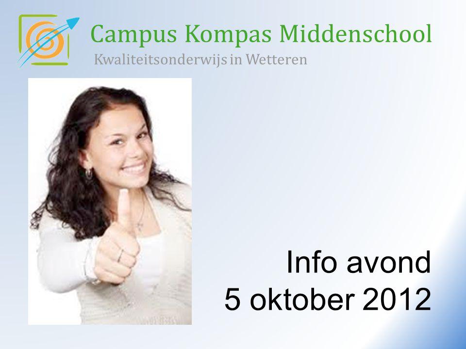 Info avond 5 oktober 2012 Campus Kompas Middenschool