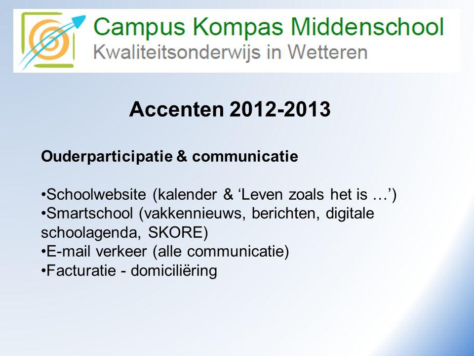 Camus Kompas Accenten 2012-2013 Ouderparticipatie & communicatie