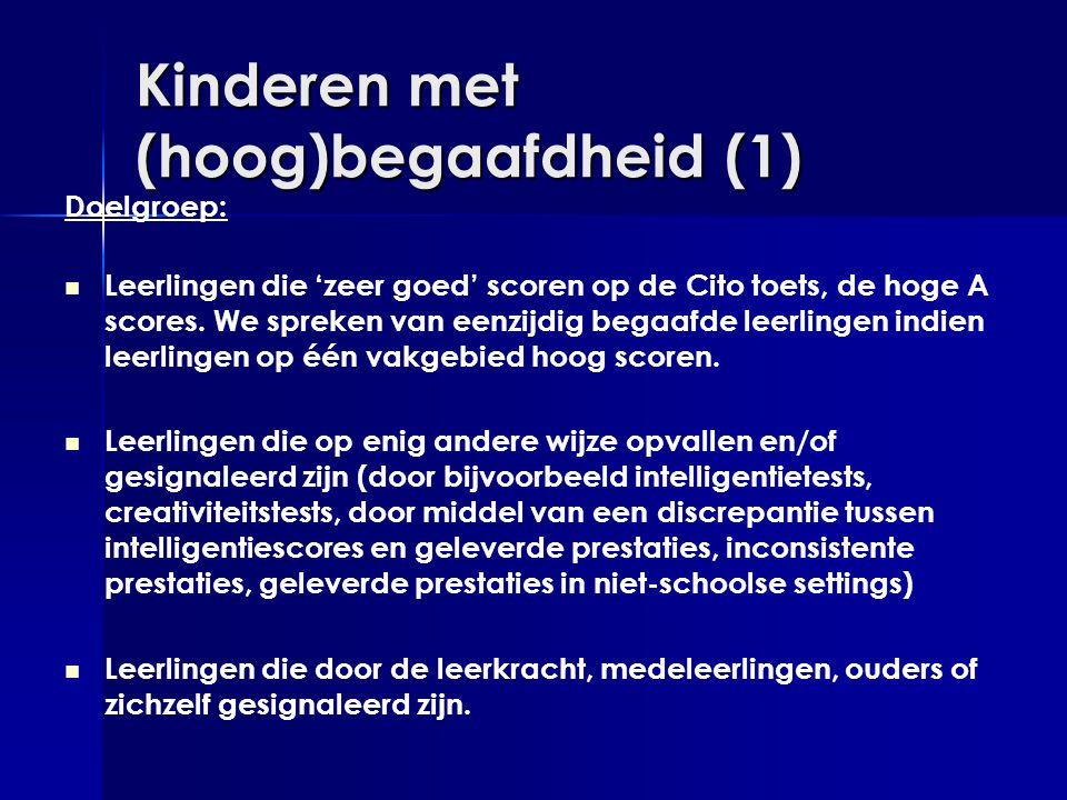 Kinderen met (hoog)begaafdheid (1)