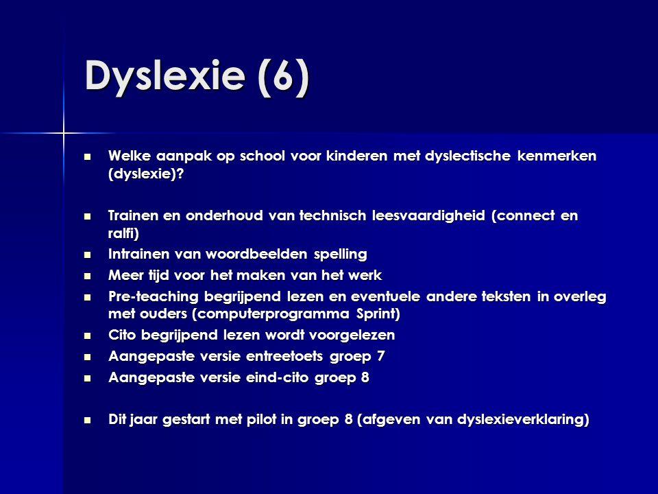 Dyslexie (6) Welke aanpak op school voor kinderen met dyslectische kenmerken (dyslexie)
