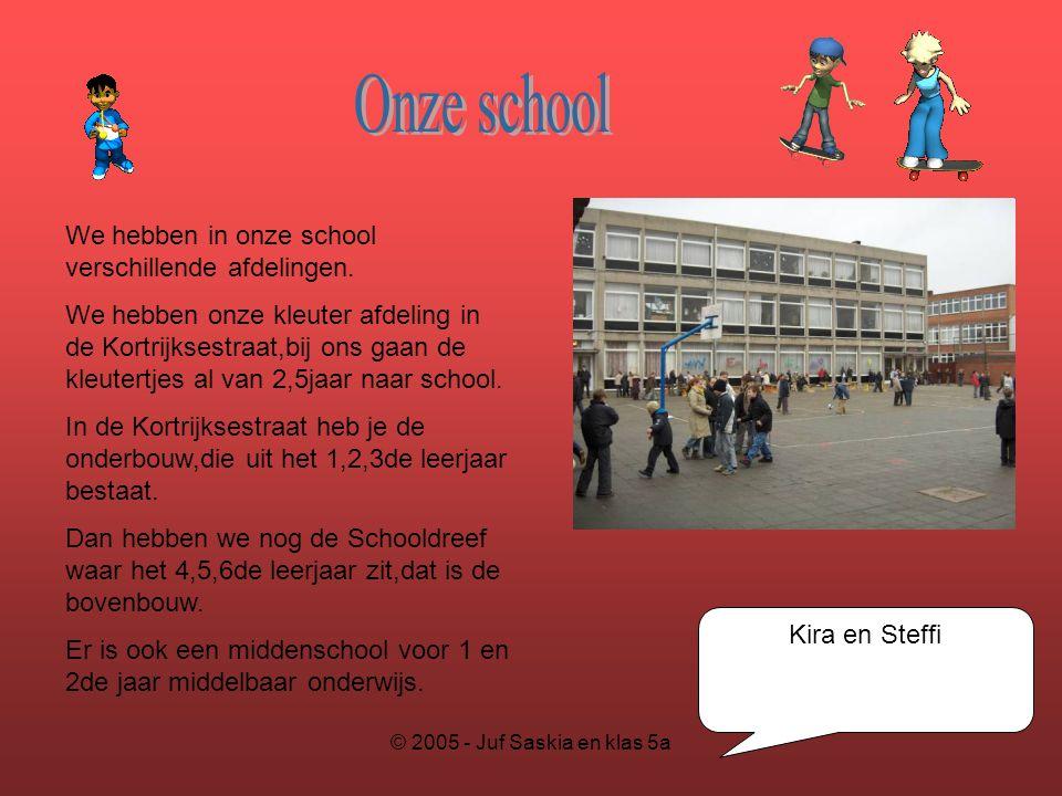 Onze school We hebben in onze school verschillende afdelingen.