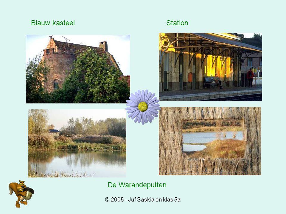 Blauw kasteel Station De Warandeputten © 2005 - Juf Saskia en klas 5a