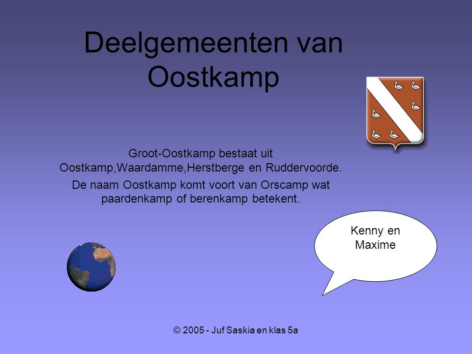 Deelgemeenten van Oostkamp