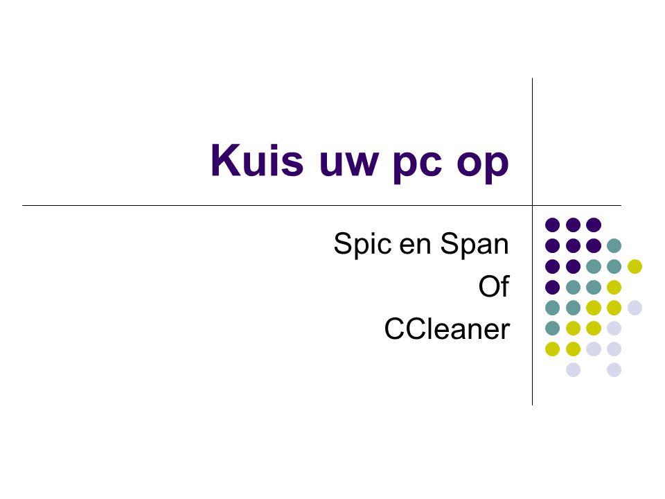 Spic en Span Of CCleaner