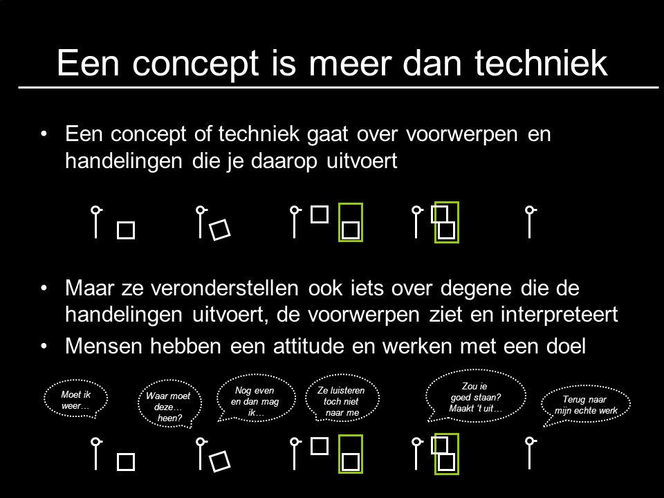 Een concept is meer dan techniek