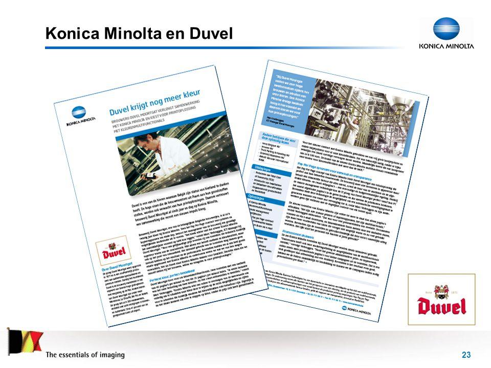 Konica Minolta en Duvel