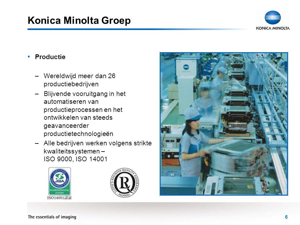 Konica Minolta Groep Productie