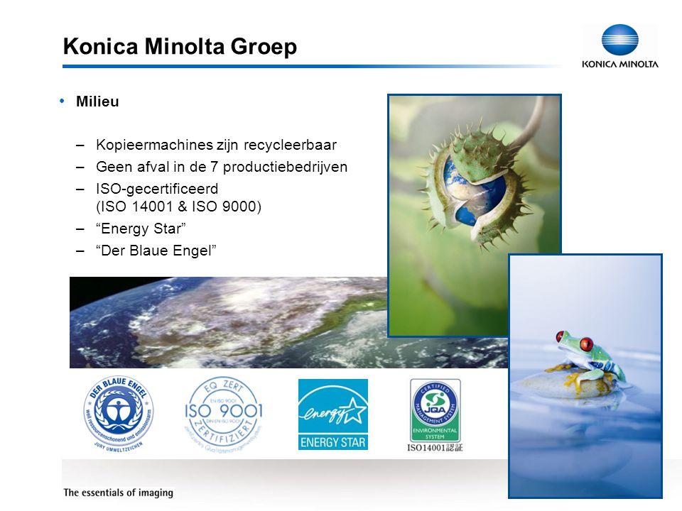 Konica Minolta Groep Milieu Kopieermachines zijn recycleerbaar