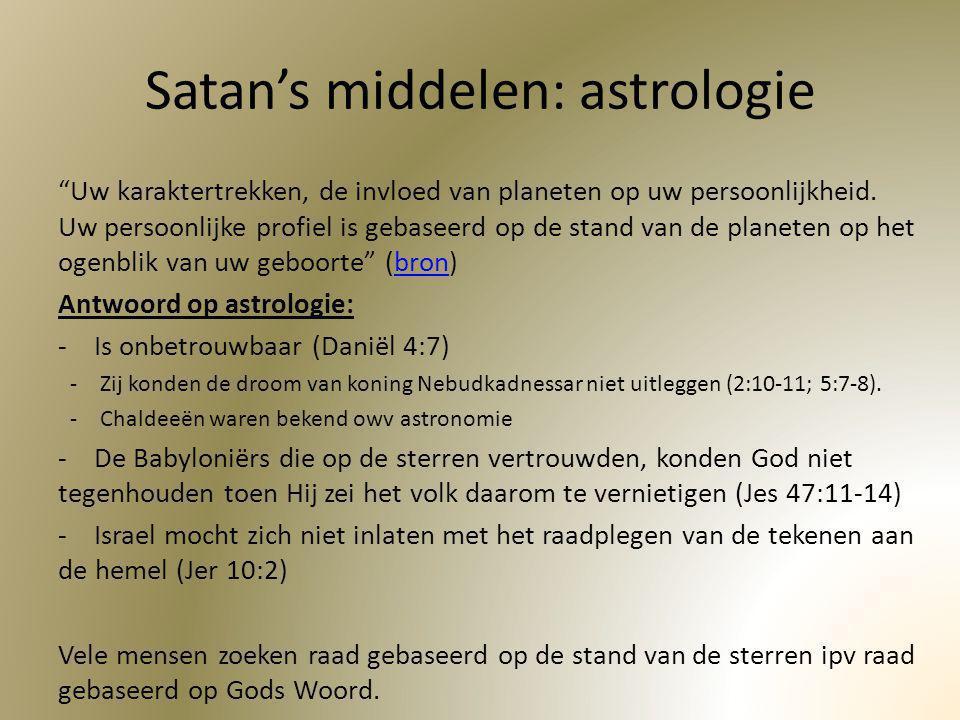 Satan's middelen: astrologie