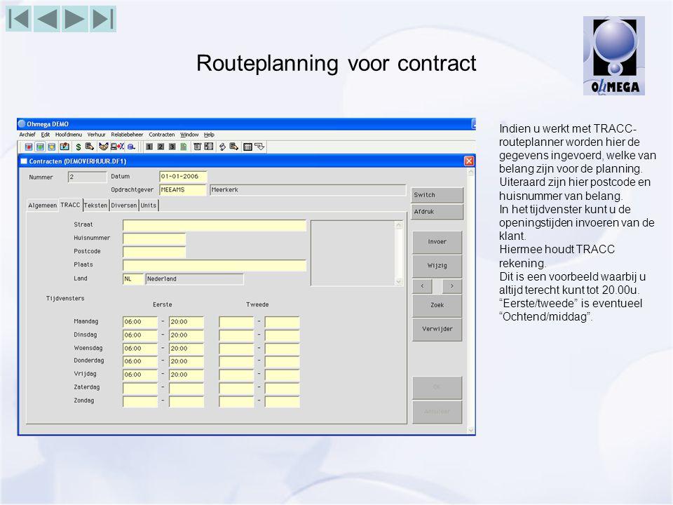 Routeplanning voor contract
