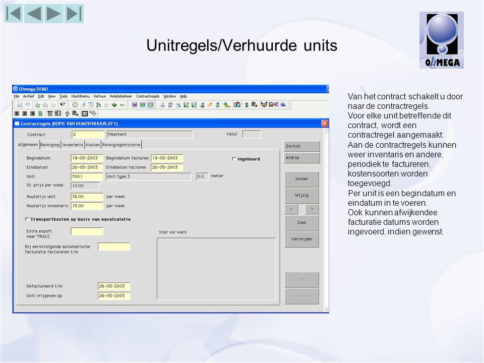 Unitregels/Verhuurde units