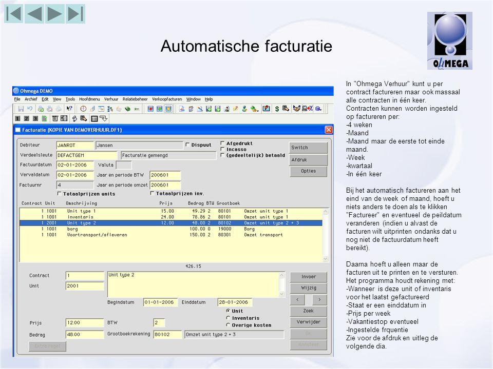 Automatische facturatie