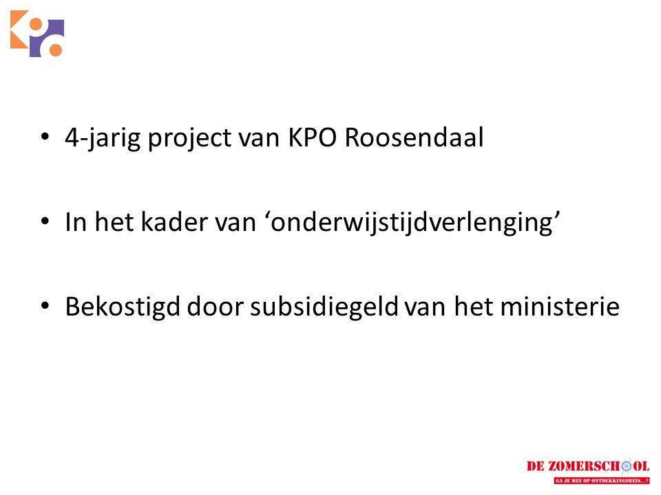 4-jarig project van KPO Roosendaal