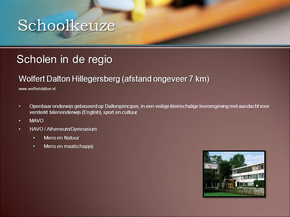 Schoolkeuze Scholen in de regio