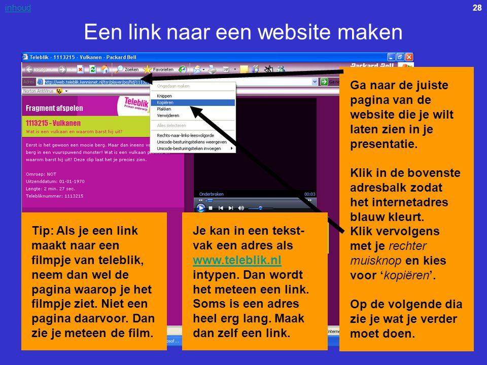 Een link naar een website maken