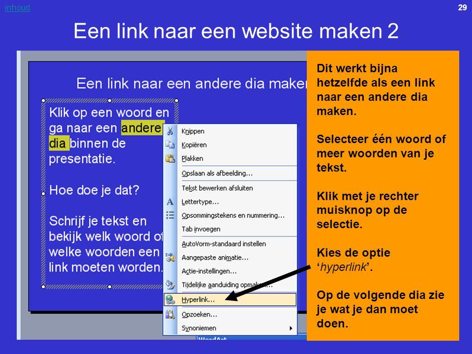 Een link naar een website maken 2