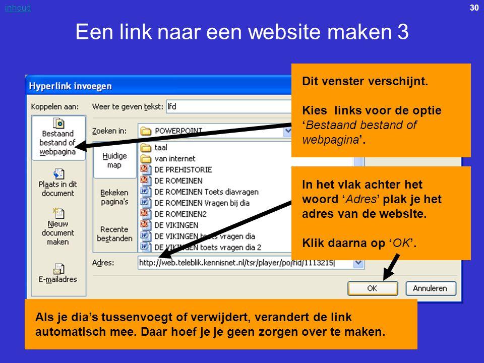 Een link naar een website maken 3