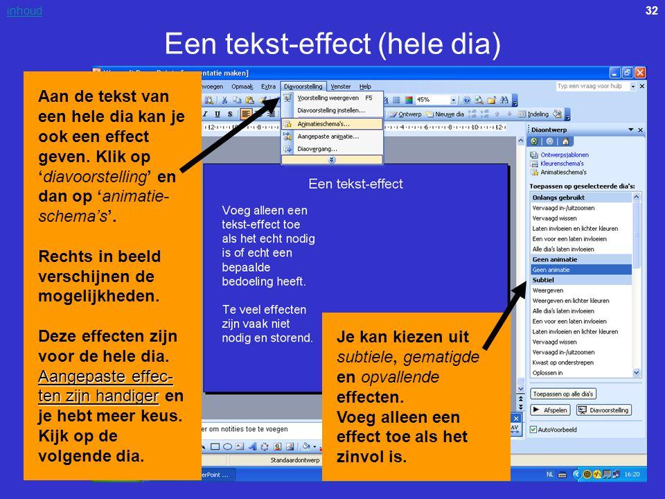 Een tekst-effect (hele dia)