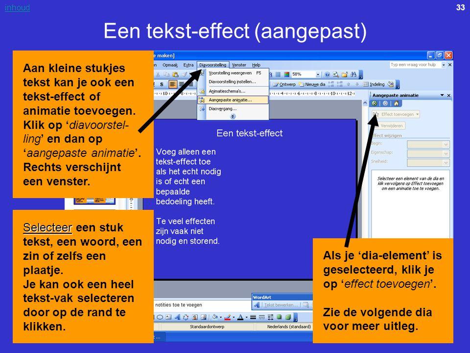 Een tekst-effect (aangepast)