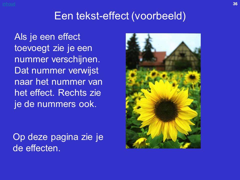 Een tekst-effect (voorbeeld)