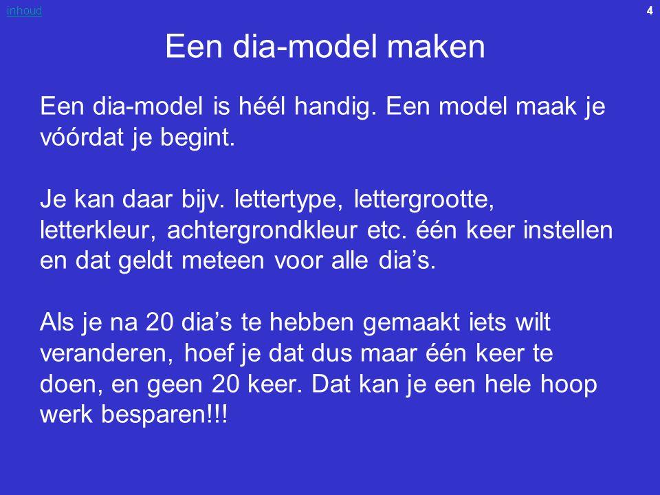 Een dia-model maken