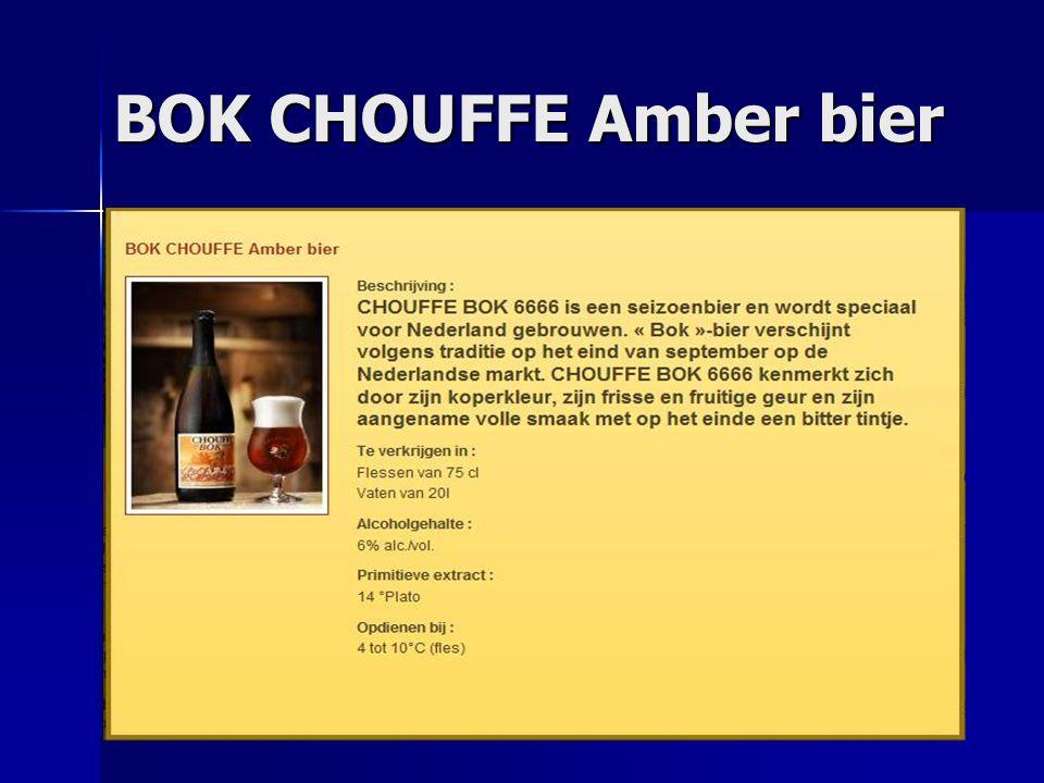 BOK CHOUFFE Amber bier