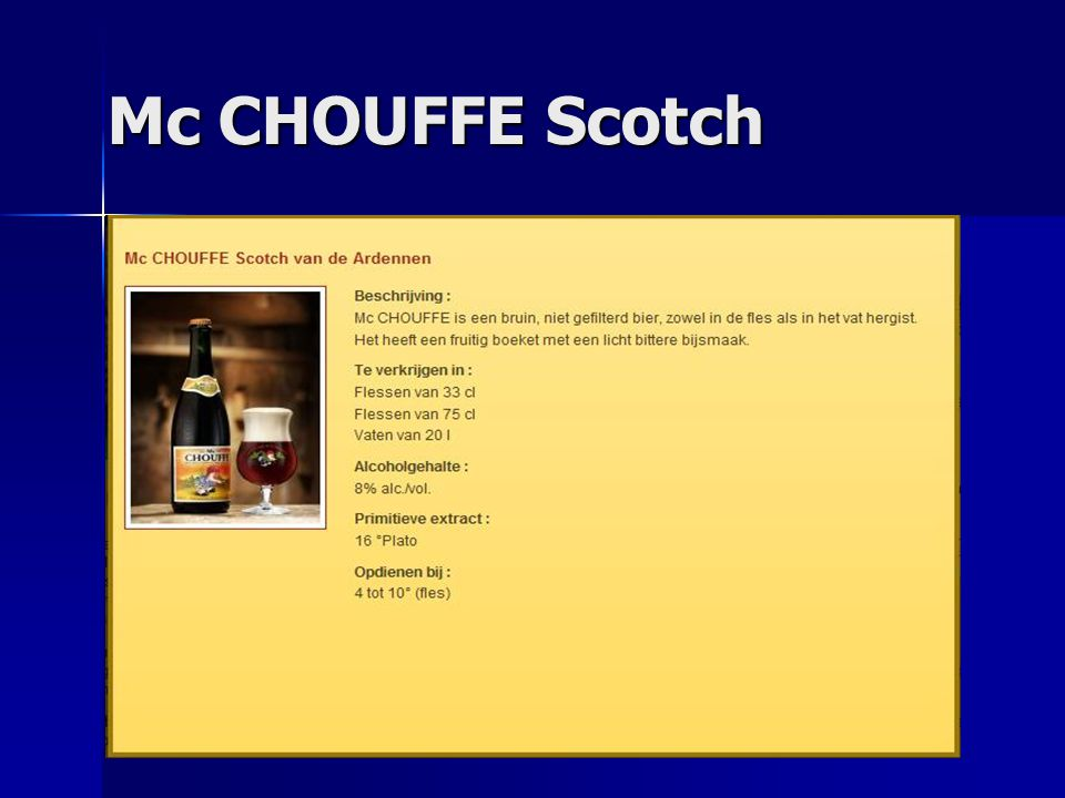 Mc CHOUFFE Scotch