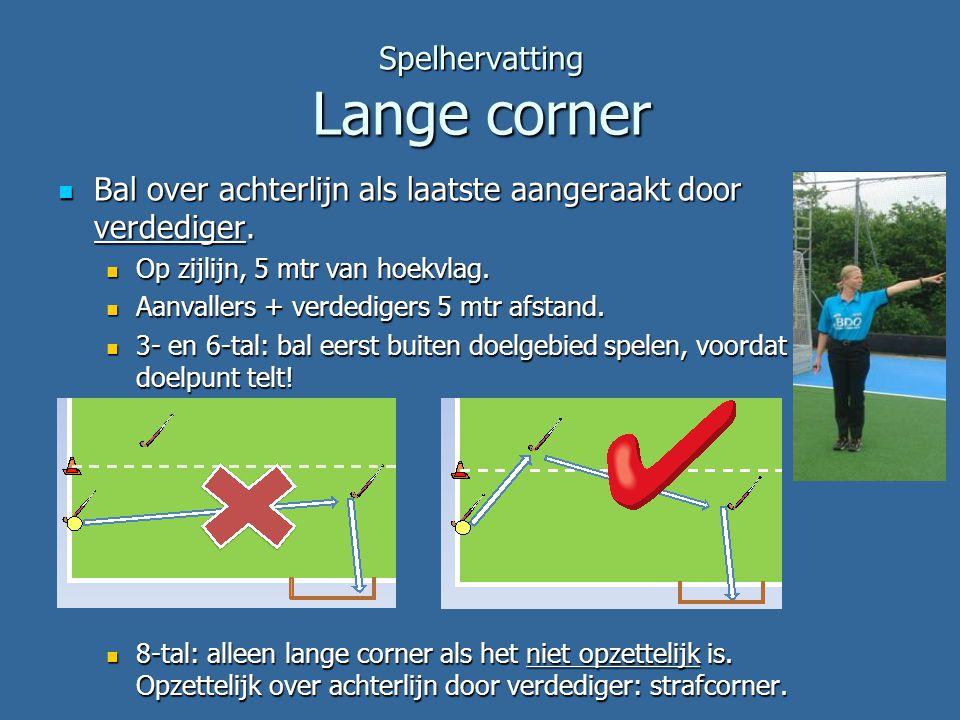 Spelhervatting Lange corner
