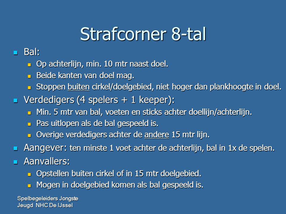 Strafcorner 8-tal Bal: Verdedigers (4 spelers + 1 keeper):