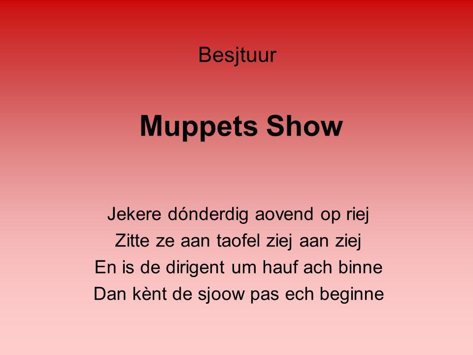 Muppets Show Besjtuur Jekere dónderdig aovend op riej