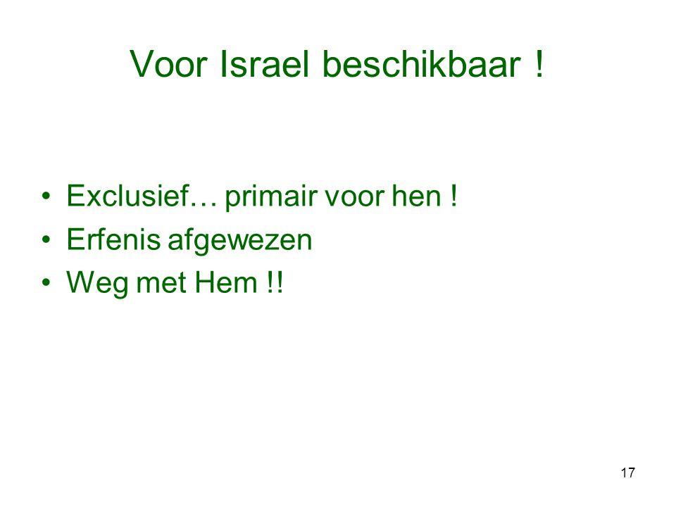 Voor Israel beschikbaar !