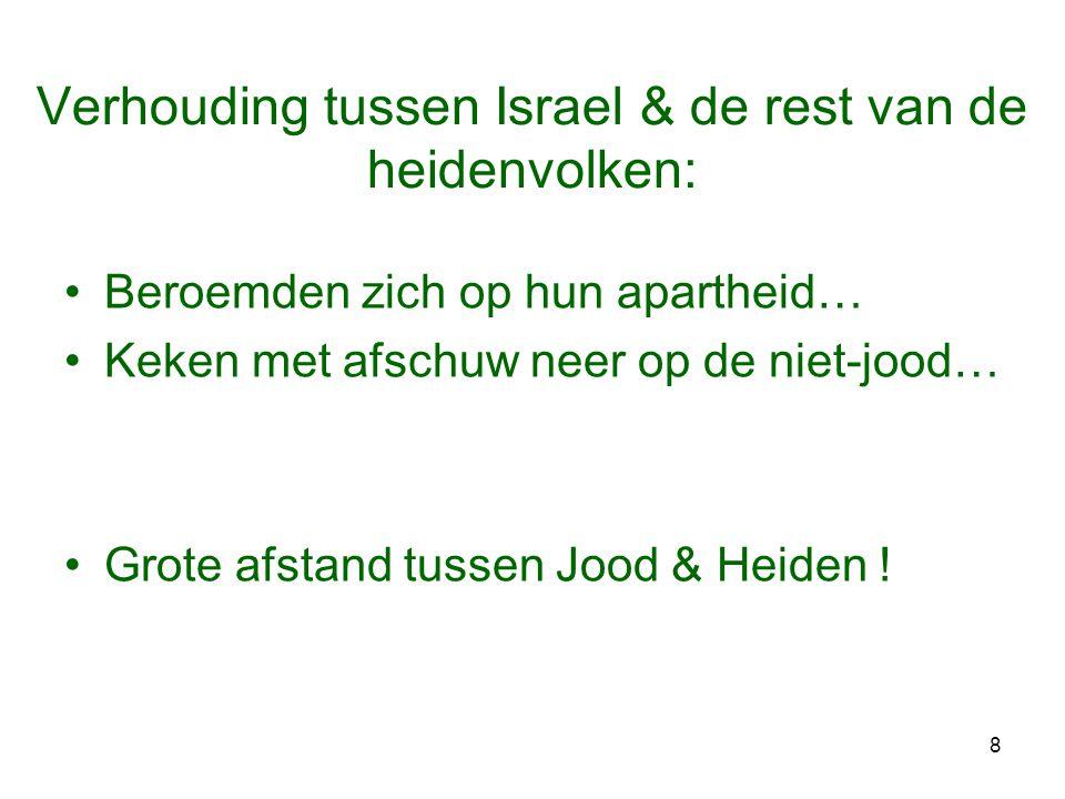 Verhouding tussen Israel & de rest van de heidenvolken: