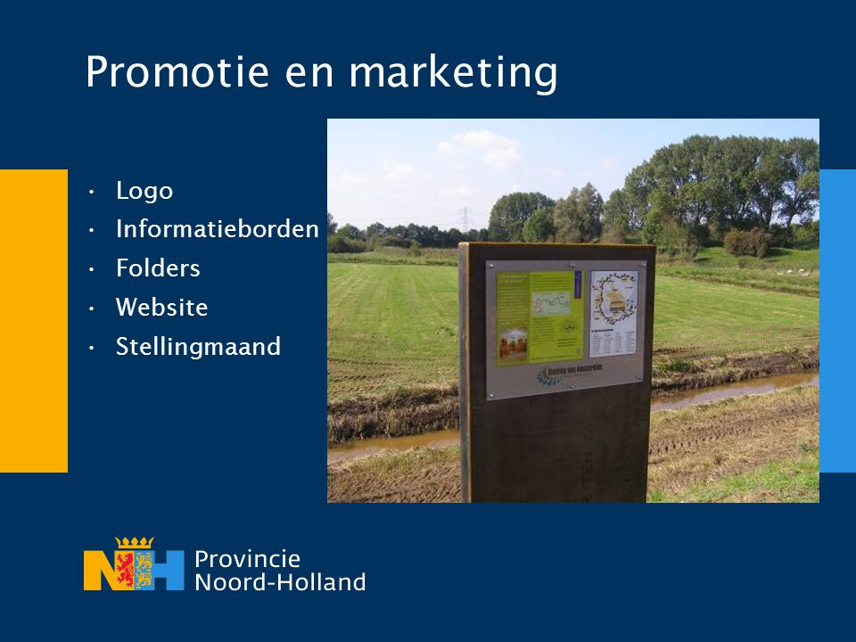 Promotie en marketing Logo Informatieborden Folders Website