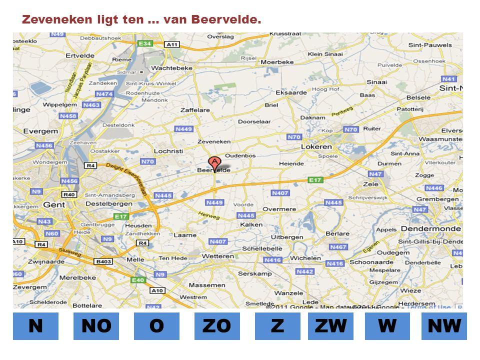 Zeveneken ligt ten … van Beervelde.