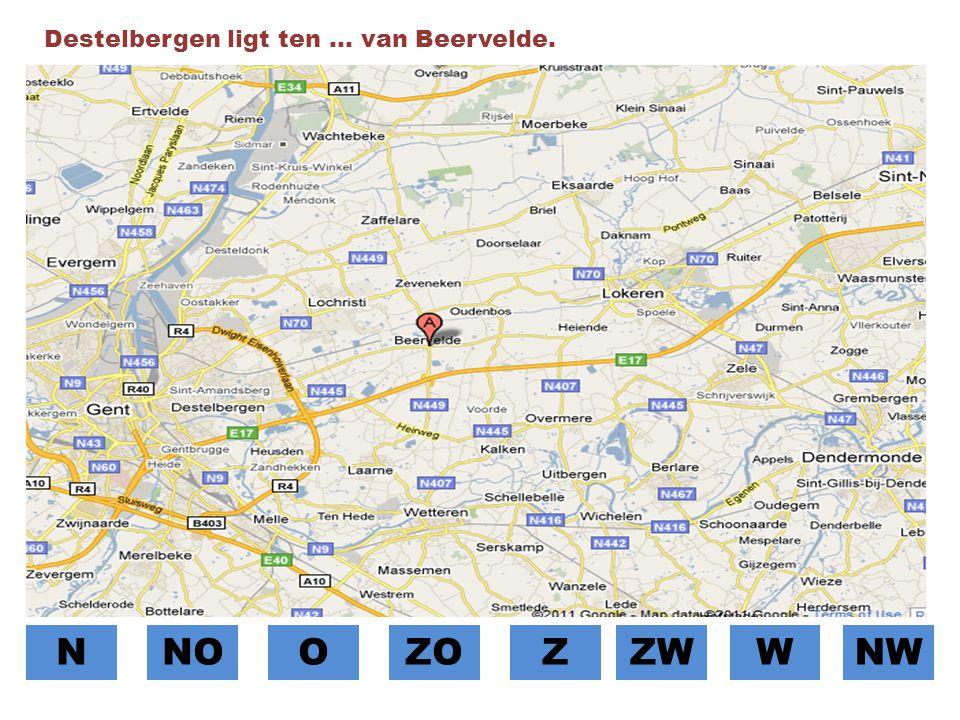 Destelbergen ligt ten … van Beervelde.