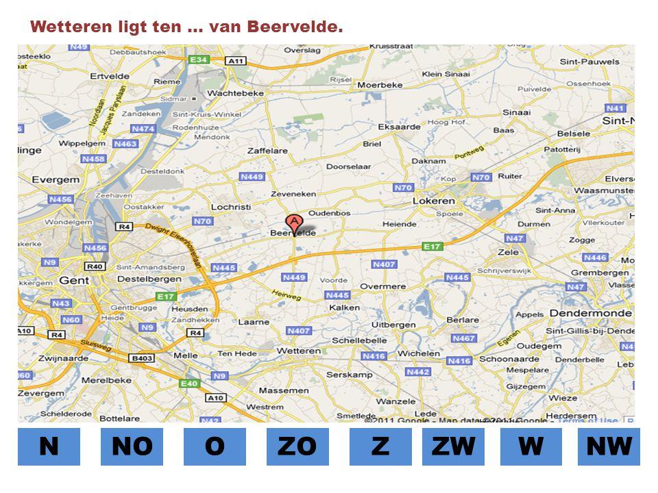 Wetteren ligt ten … van Beervelde.