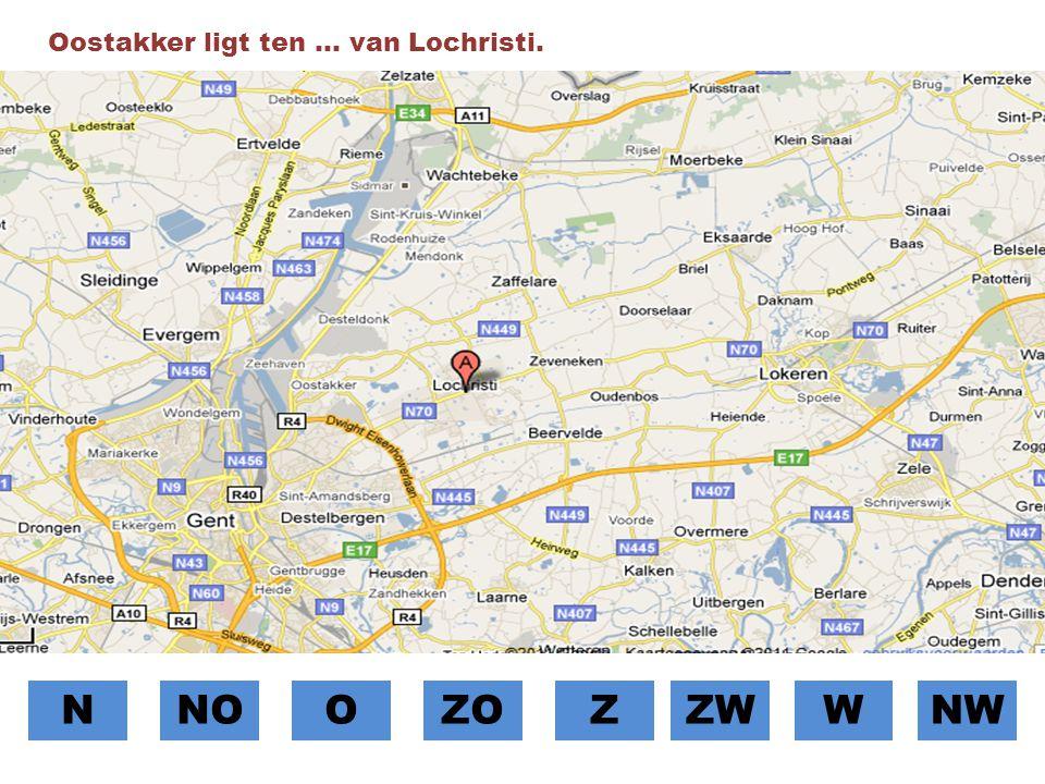 Oostakker ligt ten … van Lochristi.