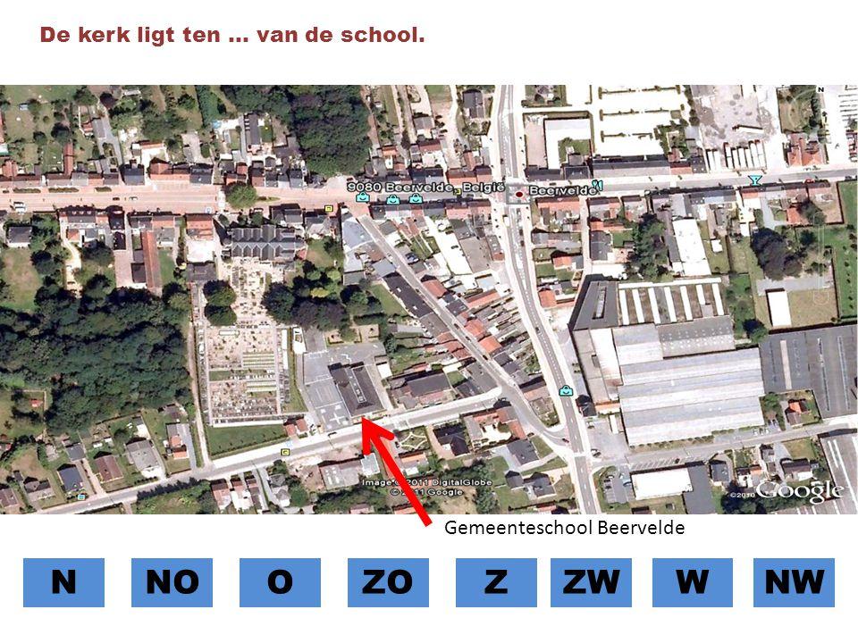 N NO O ZO Z ZW W NW De kerk ligt ten … van de school.