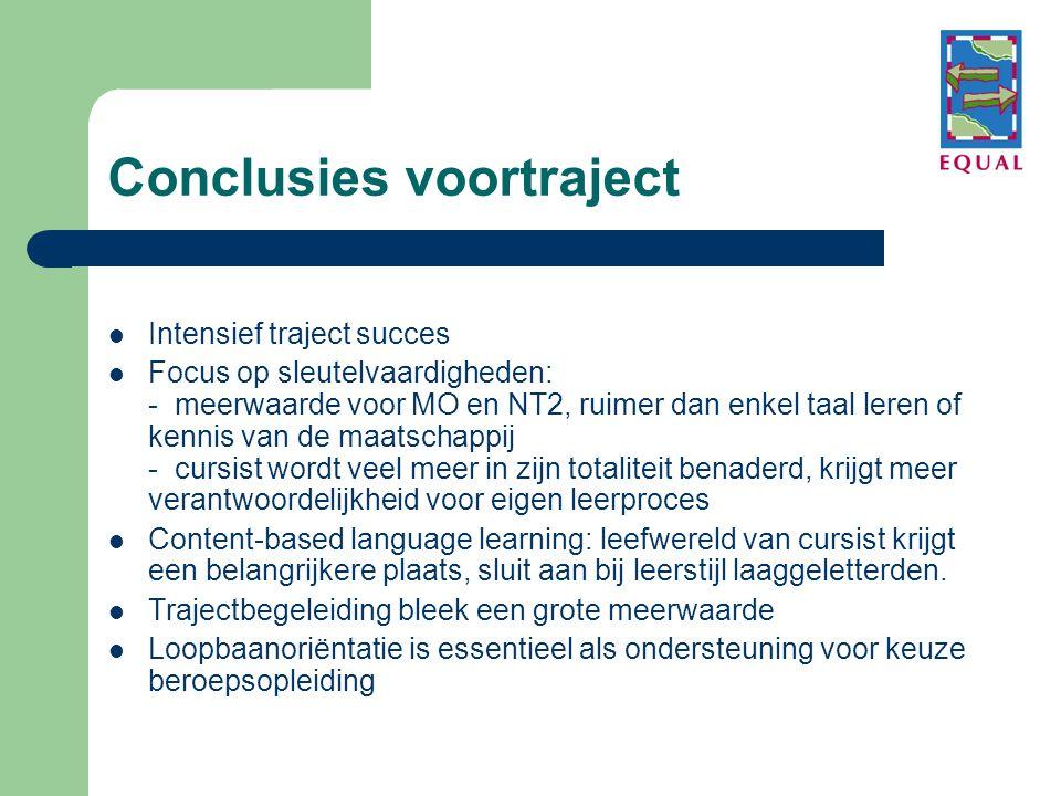 Conclusies voortraject