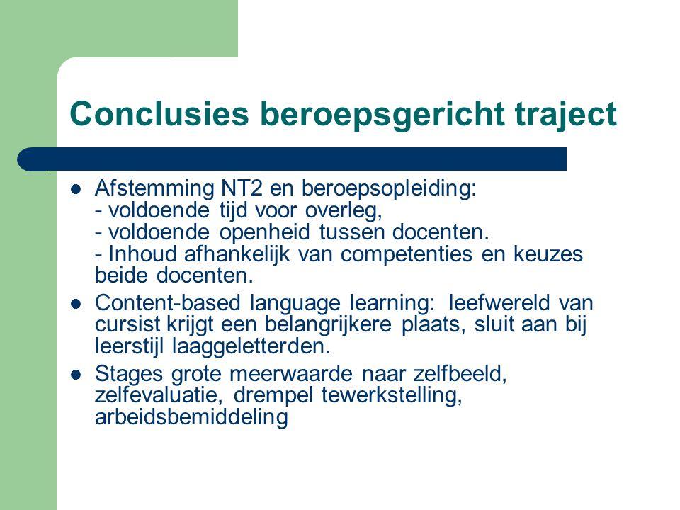 Conclusies beroepsgericht traject