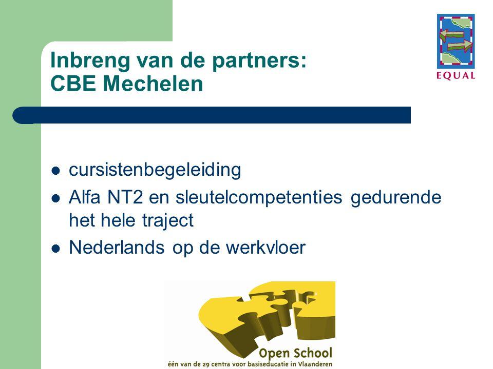 Inbreng van de partners: CBE Mechelen