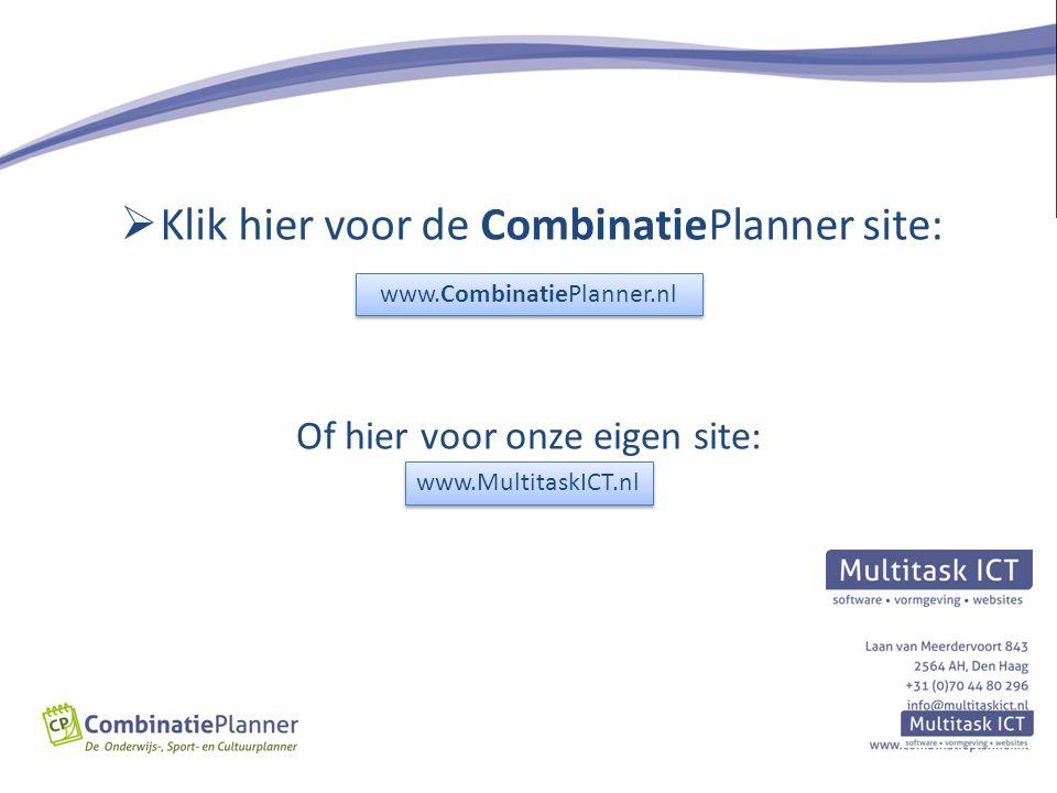 Klik hier voor de CombinatiePlanner site: