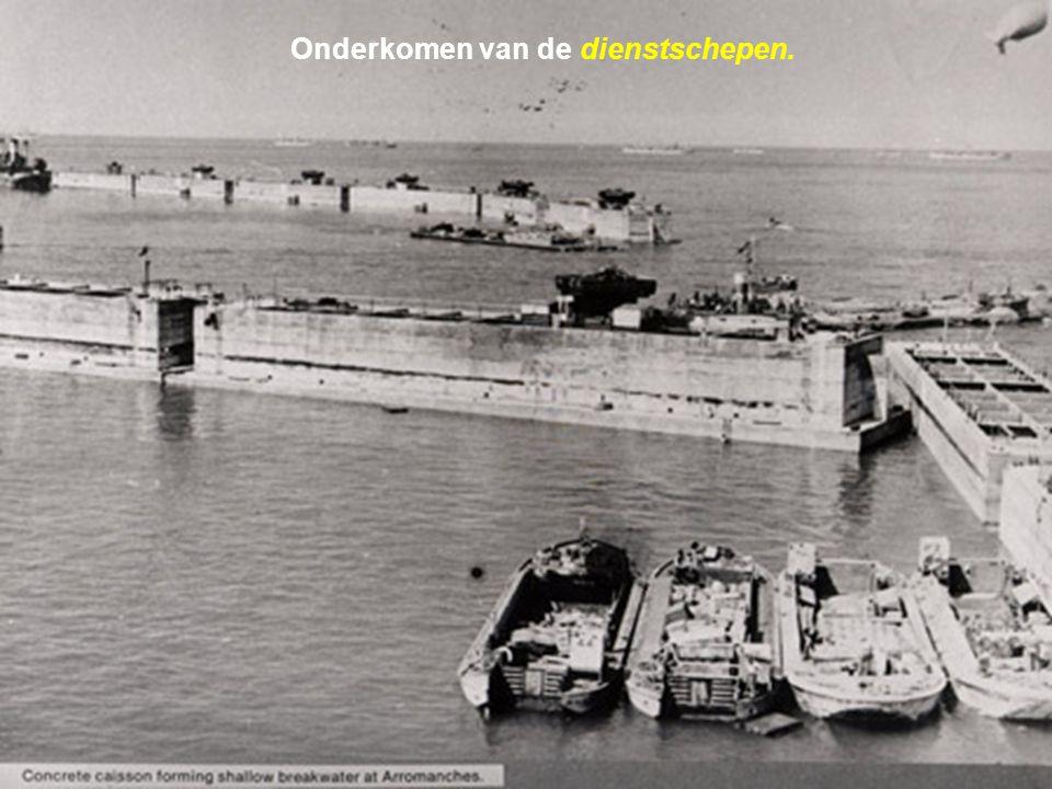 Onderkomen van de dienstschepen.