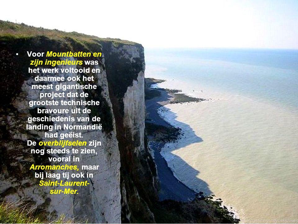 Voor Mountbatten en zijn ingenieurs was het werk voltooid en daarmee ook het meest gigantische project dat de grootste technische bravoure uit de geschiedenis van de landing in Normandië had geëist.