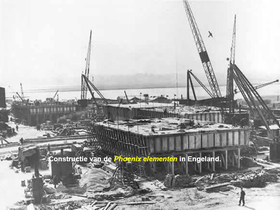 Constructie van de Phoenix elementen in Engeland.