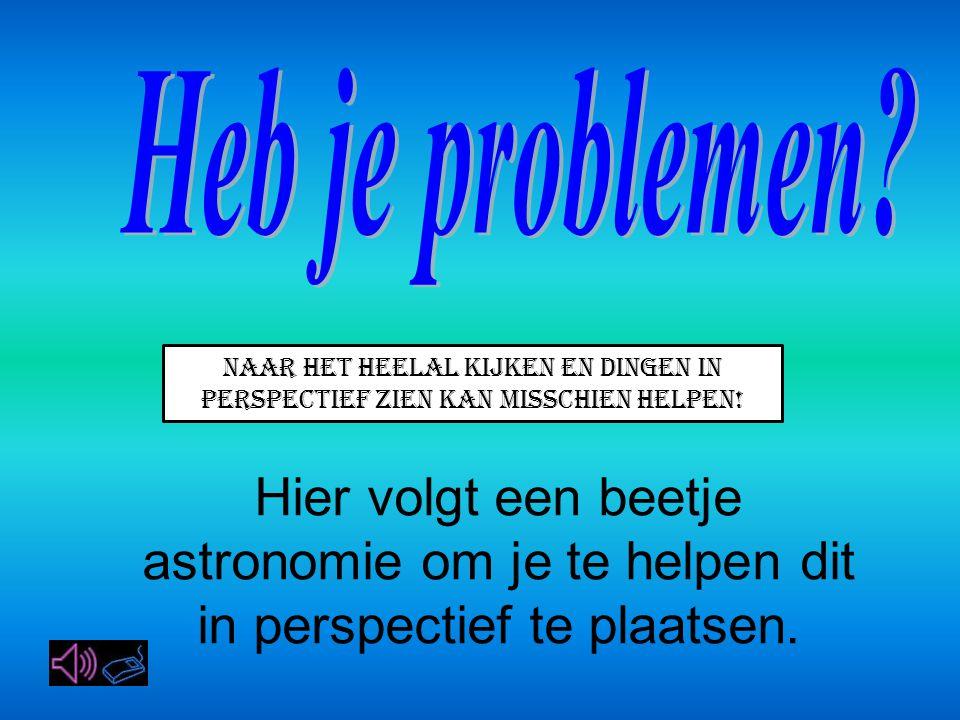 Heb je problemen Naar het heelal kijken en dingen in perspectief zien kan misschien helpen!