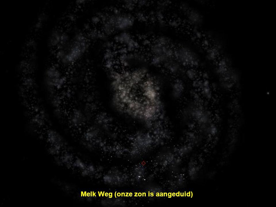 Melk Weg (onze zon is aangeduid)