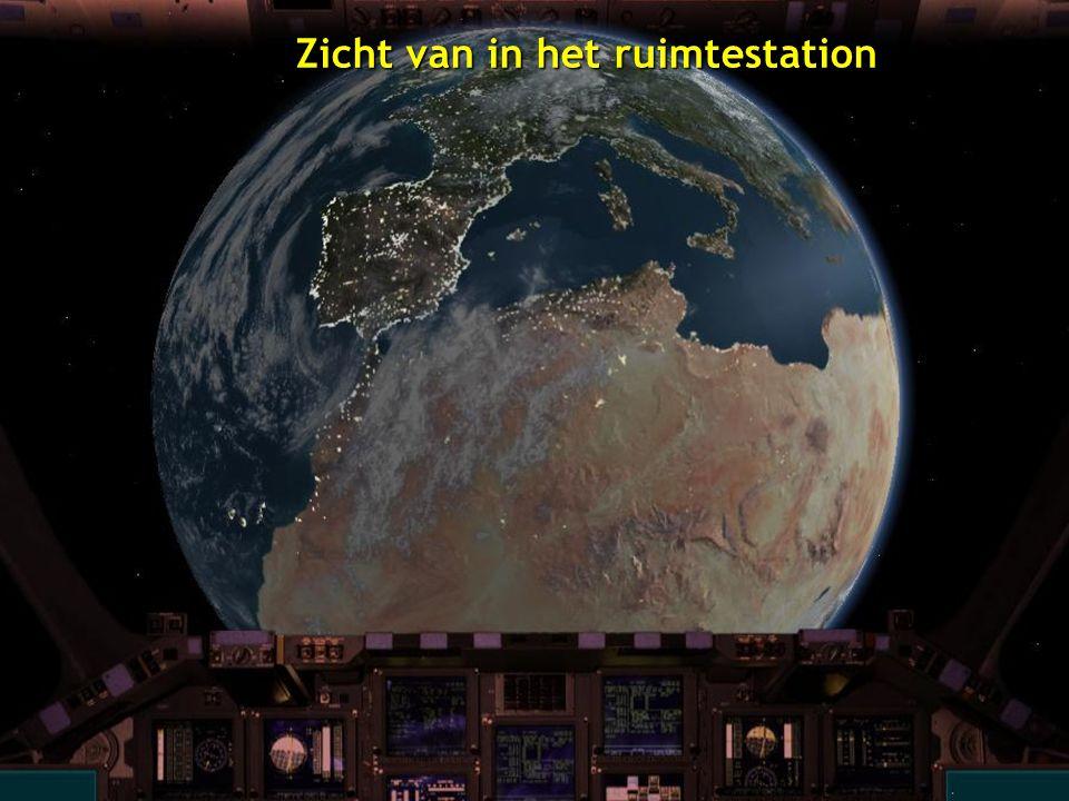 Zicht van in het ruimtestation
