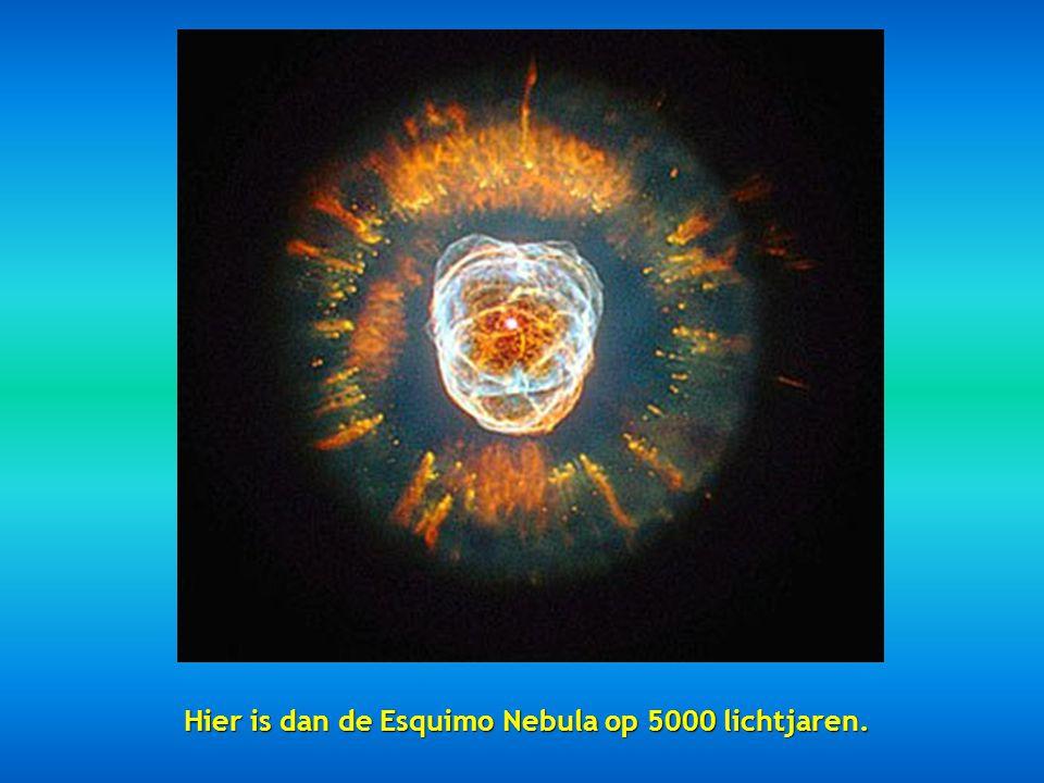 Hier is dan de Esquimo Nebula op 5000 lichtjaren.