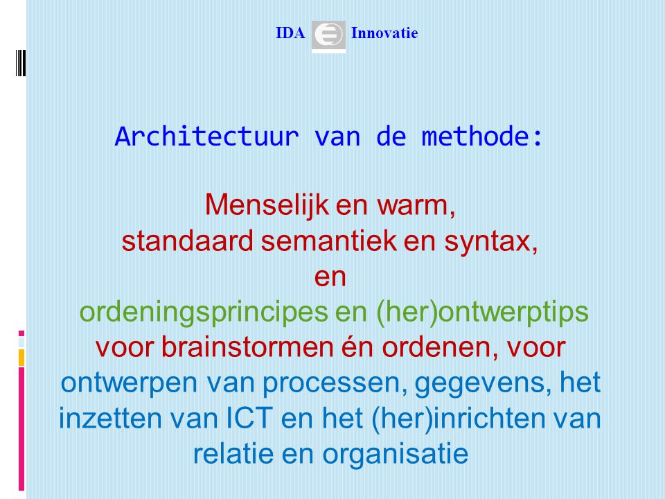 Architectuur van de methode: